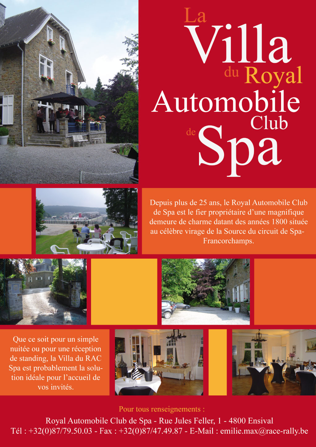 villa du royal automobile club de Spa